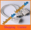 Y SPLITTER CABLE FOR SVGA VGA 1 PC to 2 MONITOR #59658 free shipping