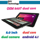 Android 4.1 Rockchip 3066 OEM 8 inch 840T Dual Core Tablet PC