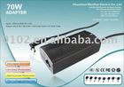 70w universal laptop adapter with voltage automatically adjusted and 8 AC connectors( MRA07A1 )