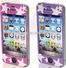 New Arrival Star design sticker mobile phone screen protector for apple iphone 4s 4g