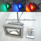 New 10W High Power LED Wall Wash Washer Spots Flood Light Lamp 16 Color W/ 24 Keys Remote Control Free Shipping