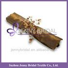 NP005A Imitation silk chocolate table napkins wholesale
