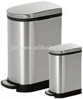 Costco Stainless Steel Rectangular Garbage Waste Trash Can