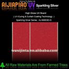UV sparkling silver mdf panel
