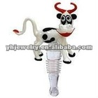 wholesale glass wine stopper cow shape wine stopper new style metal bottle stopper 2012 new design bottle stopper