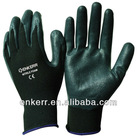 CE black nitrile foam glove 13 G knit nylon glove MS851-026