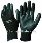 CE black nitrile foam glove 13 G knit nylon glove MS851-026