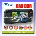 "HD DVR 2.7"" TFT LCD 120 Degree Wide Angle Lens 4 IR LED Car Video Recorder (DUAL CAMERA)"