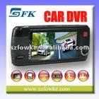 "HD DVR 2.7"" TFT LCD 120 Degree Wide Angle Lens 4 IR LED Car Video Recorder (DUAL CAMERA)"