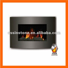 Modern Design Black Wall Mounted Electric Fireplace With CE--EBG-02B