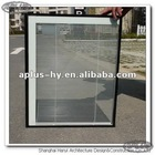 Aluminum window with built-in shutter