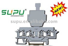 Din Rail Sping Clip Cage Clamp 2*2-Conductor Fuse Terminal Block