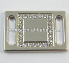 metal logo tags with crystal