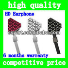 Hot Sell In-Ear High quality Lady HD Earphone Headphone for iPhone&4/4sfor iPadFor iPod ,