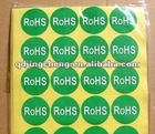 Adhesive RoHS Sticker free design revise, OEM available, CMYK color