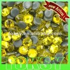14 cuts round shape!Lemon yellow dmc stone cheap price