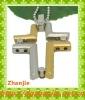New design gold silver hollow cross pendant