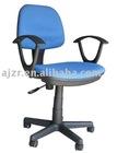 Blue Fabric Arm Task Chair, Small Fabric Office Chair, Staff Chair, Secretary Swivel Chair