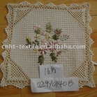 ribbon embroidery doily