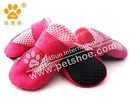 2012 JML Lightweight mesh dog booties,Dog Shoes with Solf Sole,x403,Pink color