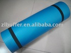 Blue roll yoga mat