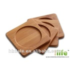 Set of 4 Bamboo Coasters,Hotel cup mat