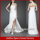 CWD08 strapless lace beaded long bridal gown pregnant wedding dress