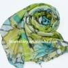 2012 Spring Flower pattern Printed Imitate Silk Scarf