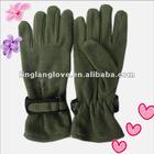 men's plain dyed polar fleece gloves with magic tape