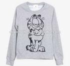 Grey Animal Figure Logo Girls Sweatshirt