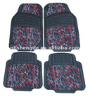 new design colored PVC+Oxford car mats