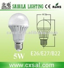 5W Frosting 65-265V india price led auto bulbs A60 no warm-up time