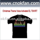 Christmas Theme Sound Activated EL T-Shirt