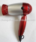 Foldable travel hair dryer with travel bag