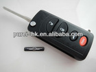 Chrysler car flip remote key case 4 buttons in US style conversion key