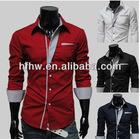 2012 Korean style fashion long sleeve men's slim shirt