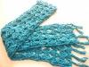 girls hand crotchet long scarf