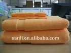 solid dyed zero-twist bath towel