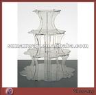 4 Tiers Curved Acrylic/Plexiglass Cupcake Stand