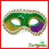 Mardi Gras Sequin and Lace Half Mask