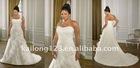 Grace Strapless Ruffle Appliqued Plus Size Bridal Dress