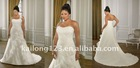 Grace Strapless Ruffle Appliqued Plus Size Bridal Dress