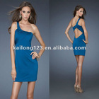 Newest One-shoulder Sheath Short Cut Out Western Style Cocktail Dress