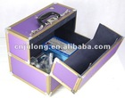 Safe deposit case with GPS and fingerprint reader.