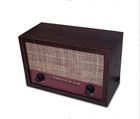 cheap wooden FM/AM radio with vintage style