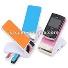Mobile phone desktop holder with usb hub