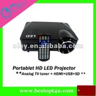 hd led beamer for home cinema with USB/SD port 150inch image
