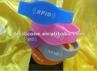 Silicone reusable rfid silicone wristbands for tracking record