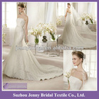 SP002 New arrival lace strappless wedding dress 2013