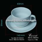 Espresso taza de porcelana y platillo LFGB certificacion
